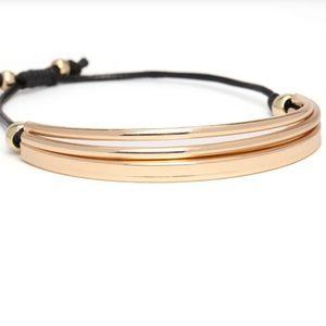Jewelry - Gold tone drawstring bracelet